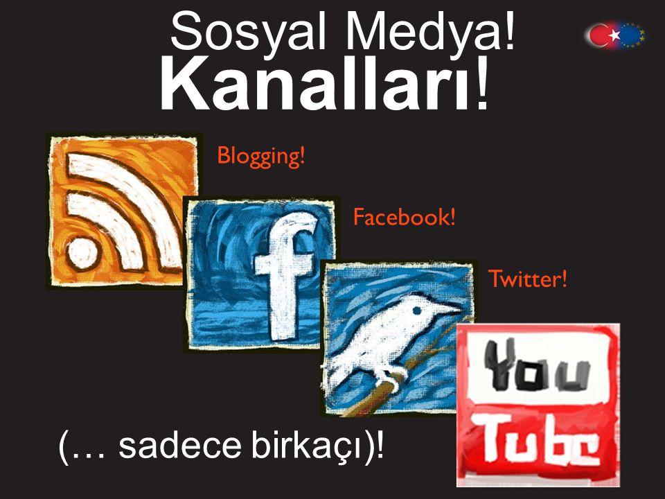 Sosyal Medya ! Kanalları ! Blogging! Facebook! Twitter! (… sadece birkaçı) !