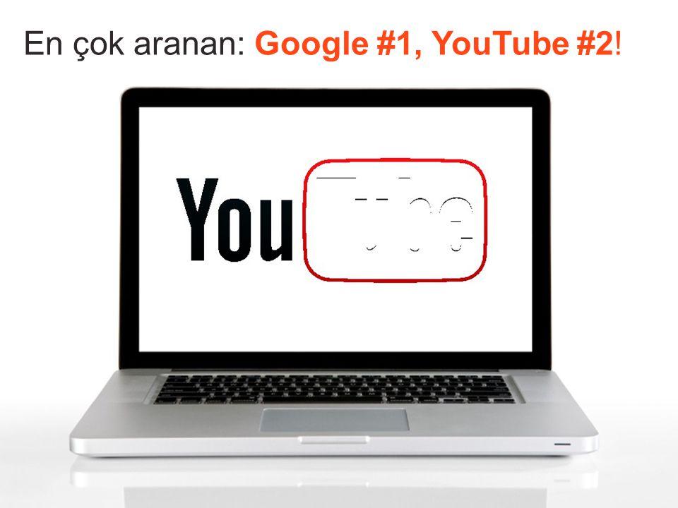 En çok aranan: Google #1, YouTube #2 !