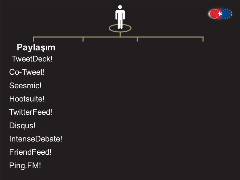 Paylaşım TweetDeck .Co-Tweet . Seesmic . Hootsuite .
