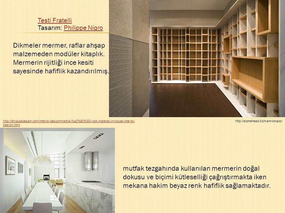 Testi Fratelli Testi Fratelli Tasarım: Philippe NigroPhilippe Nigro http://stonehead.kz/marmomacc/http://bhousedesain.com/interior-design/marble-%e2%8