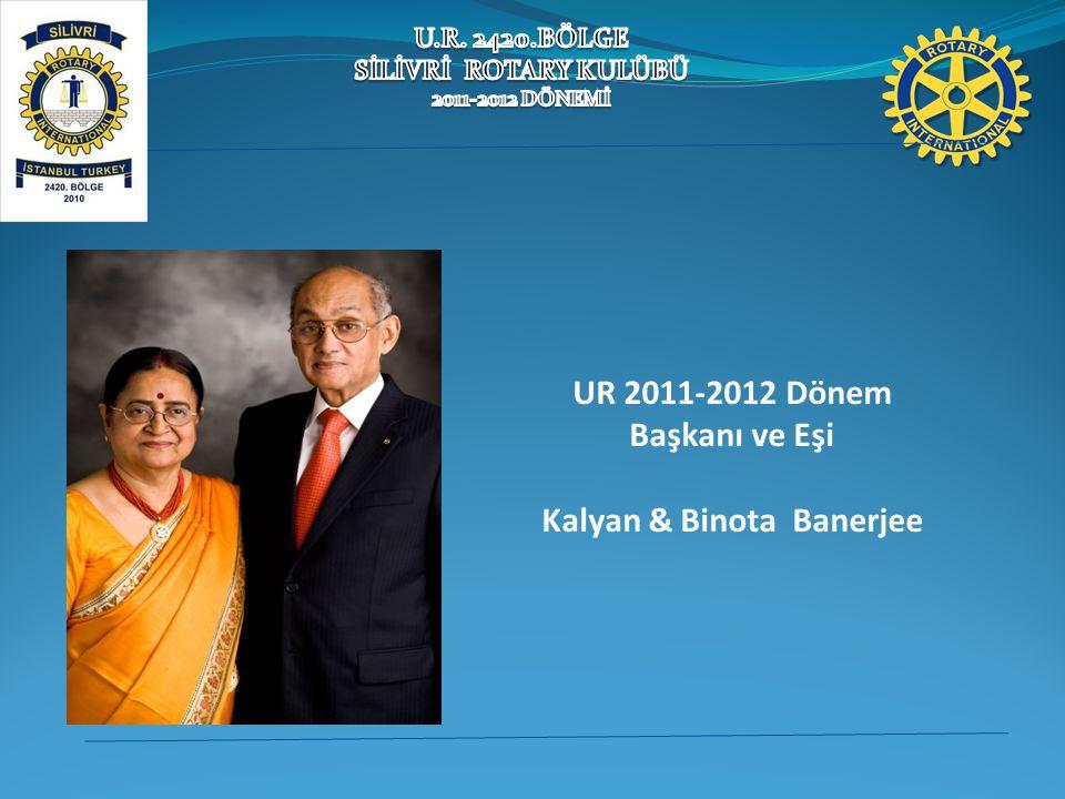 UR 2011-2012 Dönem Başkanı ve Eşi Kalyan & Binota Banerjee