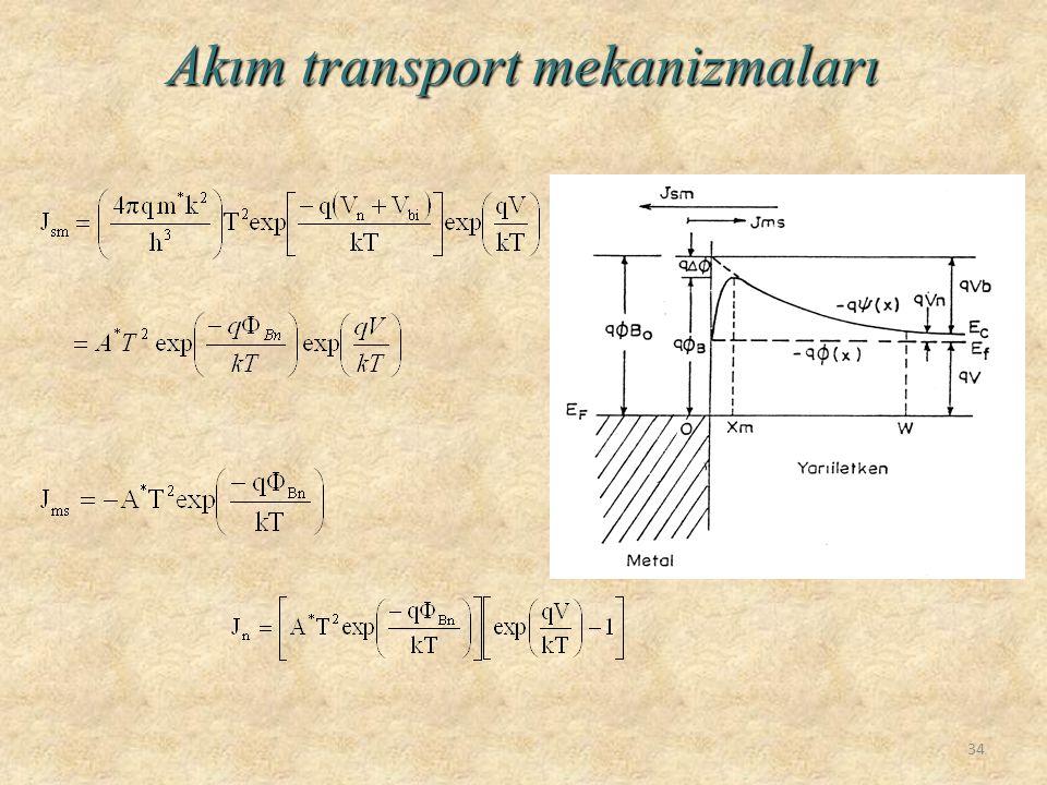 Akım transport mekanizmaları 34
