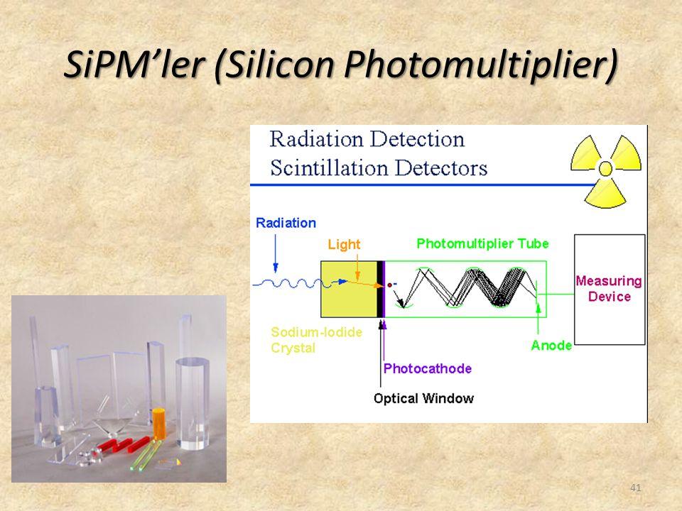 SiPM'ler (Silicon Photomultiplier) 41