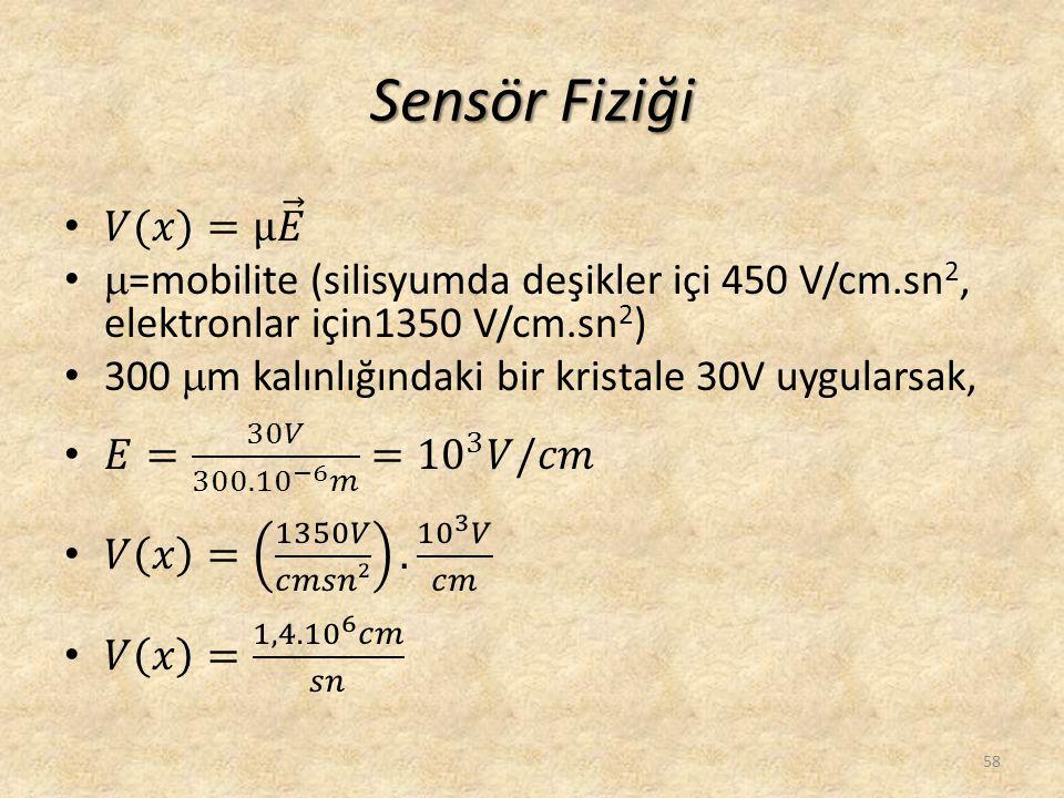 Sensör Fiziği 58