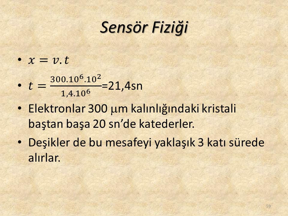 Sensör Fiziği 59
