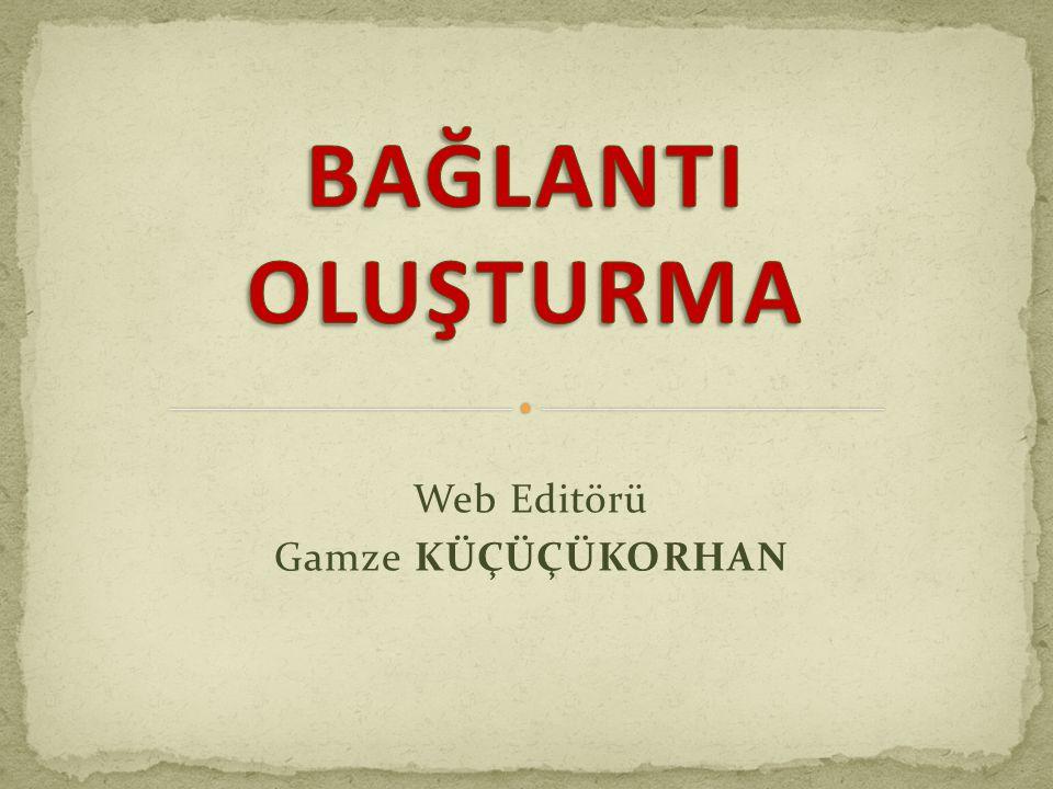 Web Editörü Gamze KÜÇÜÇÜKORHAN