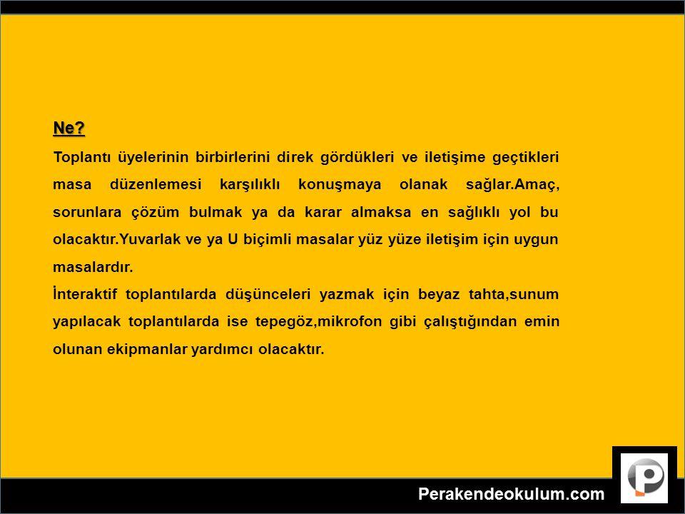 TOPLANTI SAATİ YERİ DONANIMI NASIL OLMALI .Ne.