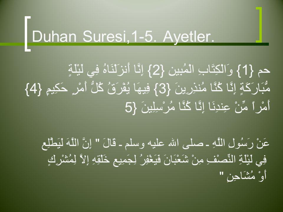 Duhan Suresi,1-5.Ayetler.