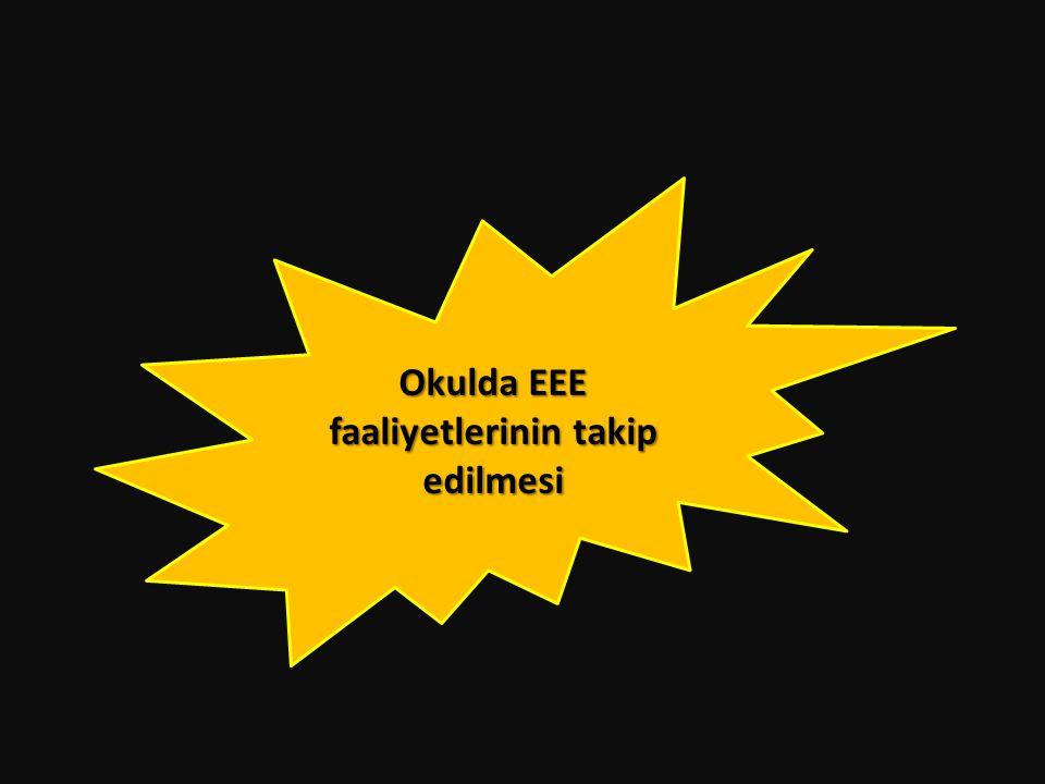 Okulda EEE faaliyetlerinin takip edilmesi