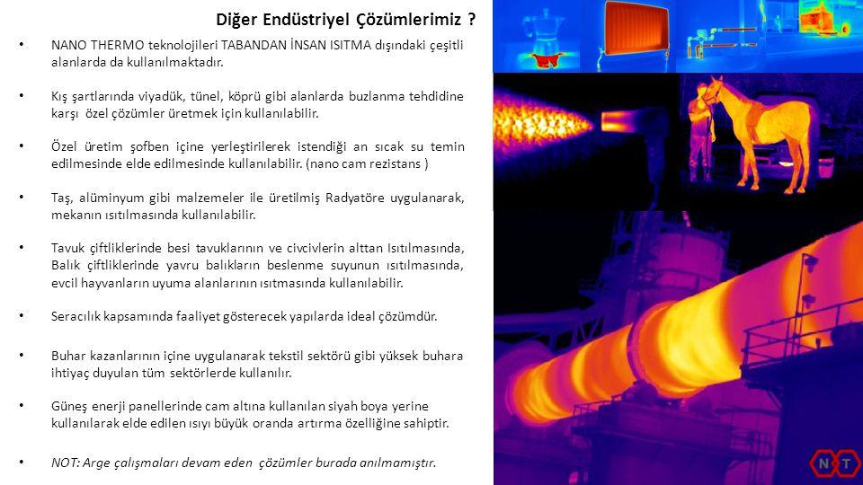 • NANO THERMO teknolojileri TABANDAN İNSAN ISITMA dışındaki çeşitli alanlarda da kullanılmaktadır. • Kış şartlarında viyadük, tünel, köprü gibi alanla