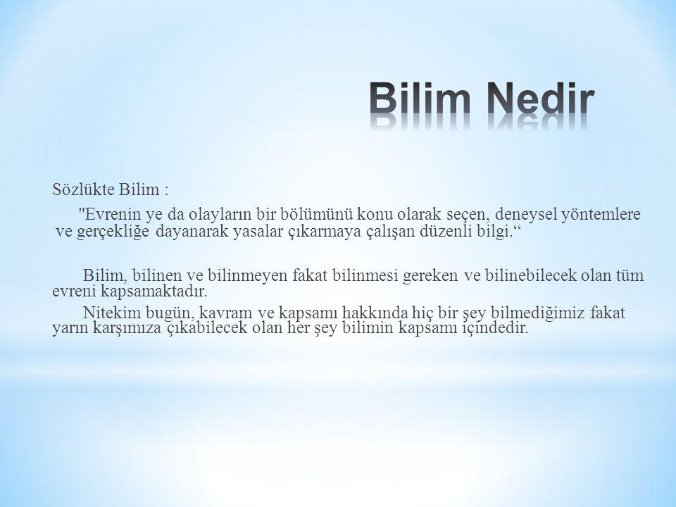 Sözlükte Bilim :