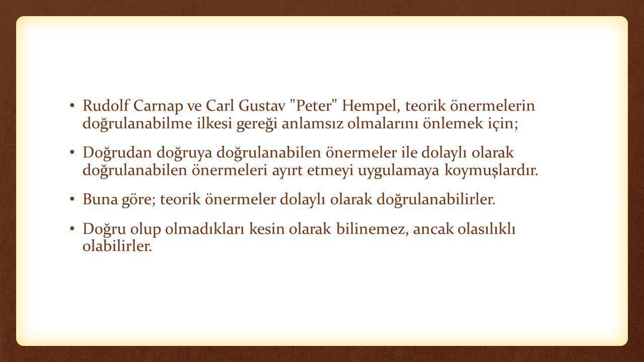 • Rudolf Carnap ve Carl Gustav