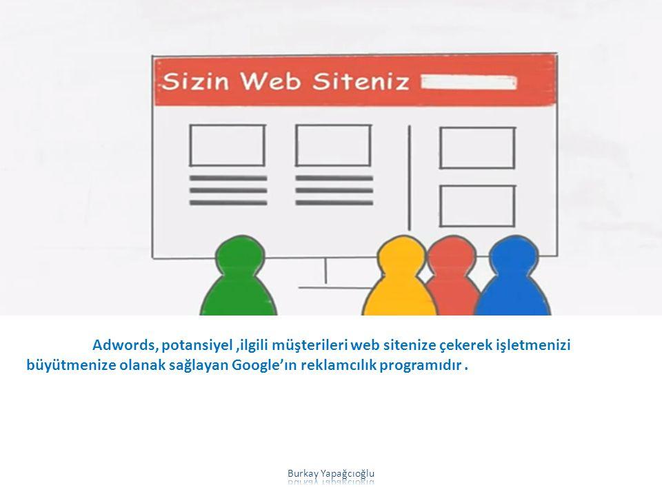 Adwords, potansiyel,ilgili müşterileri web sitenize çekerek işletmenizi büyütmenize olanak sağlayan Google'ın reklamcılık programıdır.