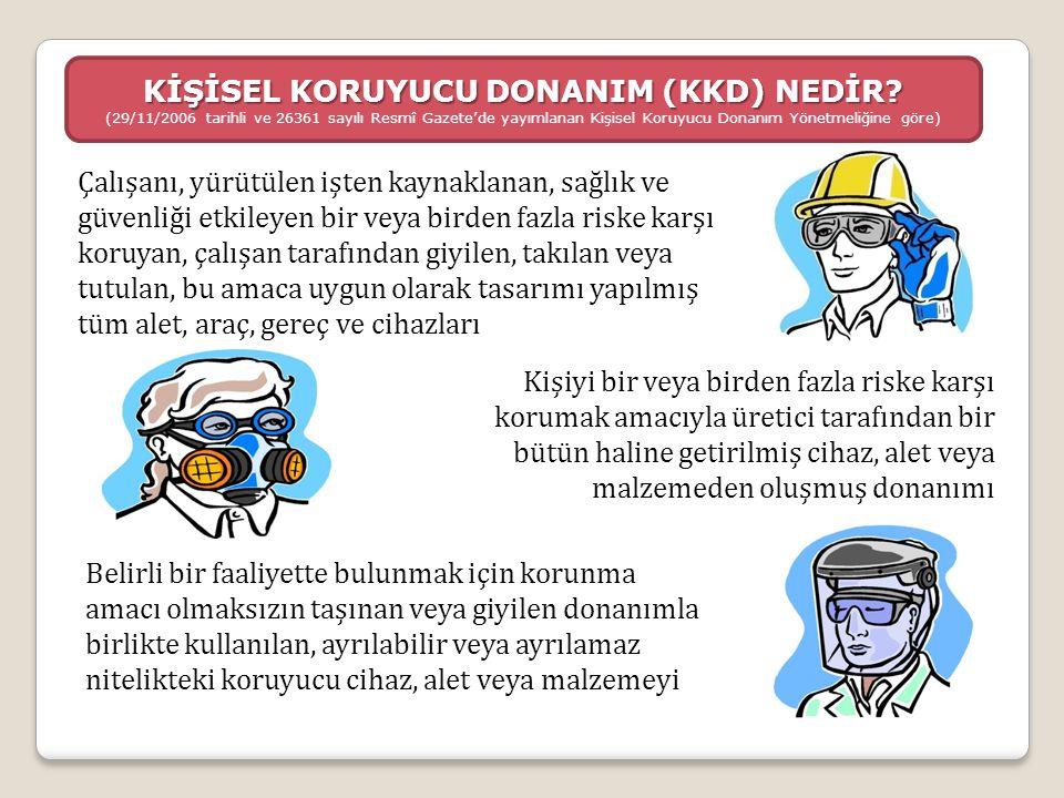KAYNAKLAR  Kişisel Koruyucu Donanım (KKD) - İmalatçılar tarafından kullanıcılara sağlanacak bilgilerin hazırlanmasına ilişkin kılavuz  Üye Devletlerin Kişisel Koruyucu Donanıma İlişkin Yasalarının Yakınlaştırılması Hakkındaki 21 Aralık 1989 Gün Ve 89/686/Eec Sayılı Konsey Direktifinin Uygulanması Hakkındaki Yönlendirici İlkeler  Universal Sertifikasyon Ve Gözetim Hizmetleri Tic.