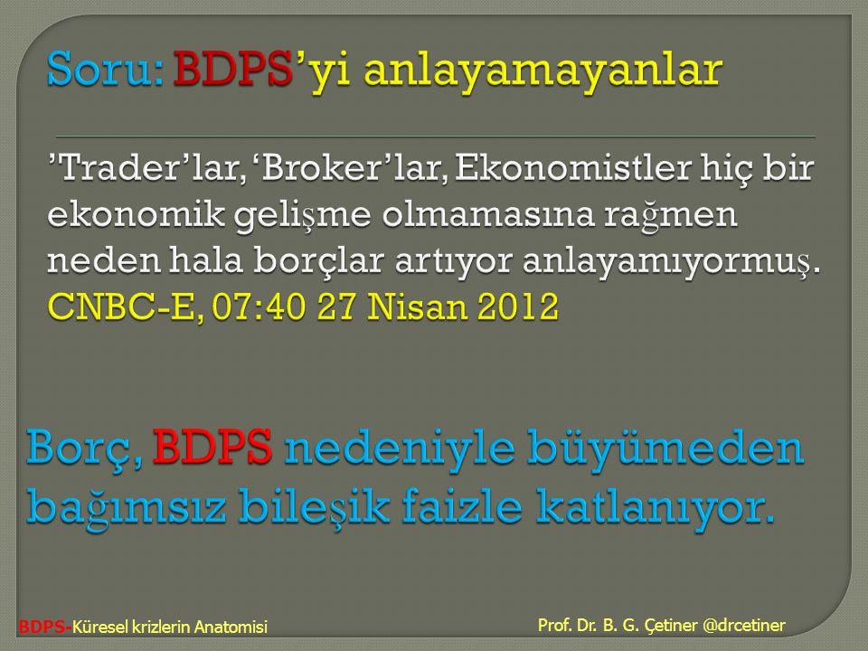 BDPS-Küresel krizlerin Anatomisi Prof. Dr. B. G. Çetiner @drcetiner