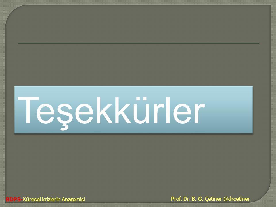 BDPS-Küresel krizlerin Anatomisi Teşekkürler Prof. Dr. B. G. Çetiner @drcetiner