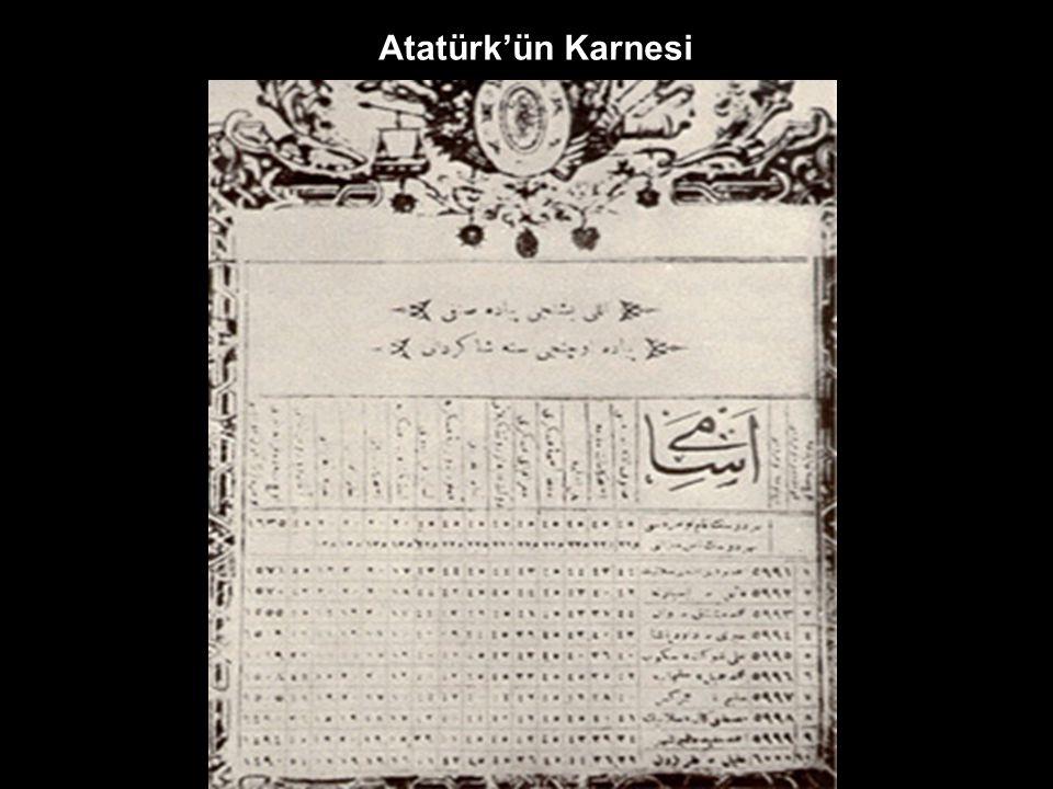 Atatürk'ün El Yazısı Atatürk'ün Nüfus Cüzdanı