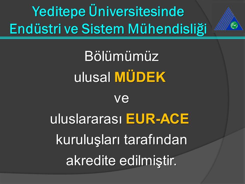 Bölümümüz ulusal MÜDEK ulusal MÜDEK ve uluslararası EUR-ACE uluslararası EUR-ACE kuruluşları tarafından akredite edilmiştir. Yeditepe Üniversitesinde