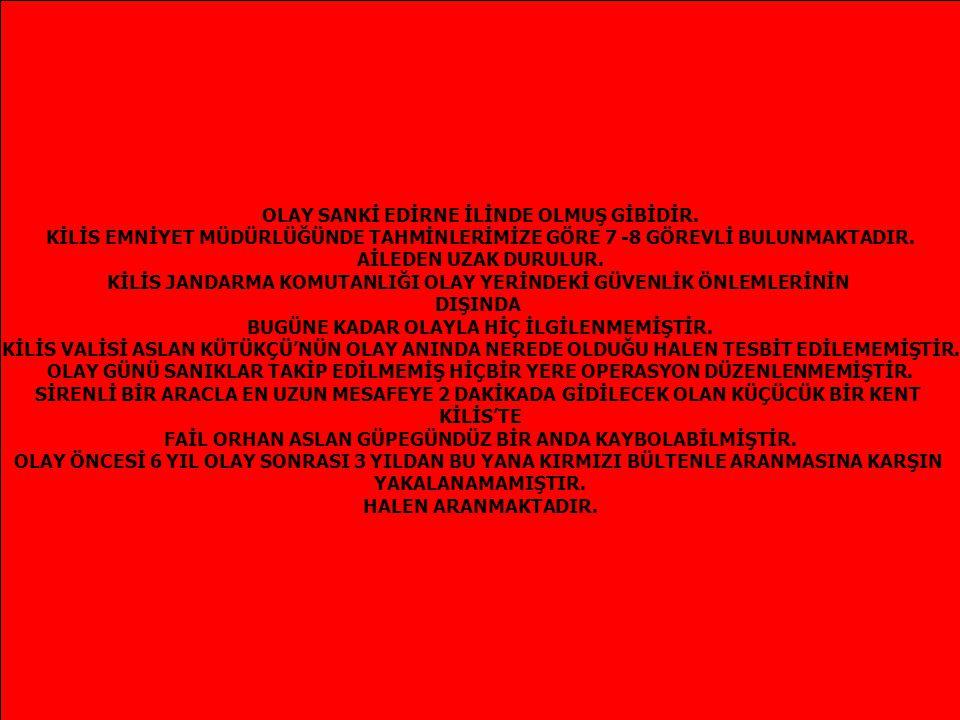 Olay günü 3 Haziran 2005 'te SAAT 21.00 DE OLAYLA İLGİLİ OLARAK HİÇ KİMSE YAKALANMAMASINA KARŞIN, KENT GİRİŞ VE ÇIKIŞLARINDAKİ TÜM UYGULAMALAR KALDIRILIR.