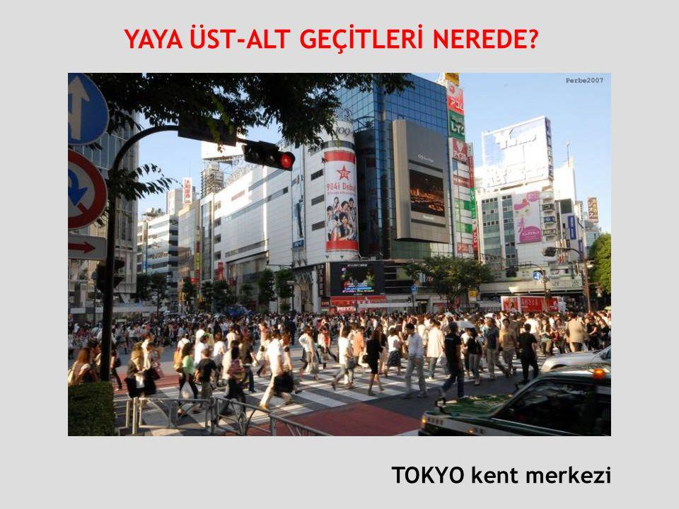 TOKYO kent merkezi YAYA ÜST-ALT GEÇİTLERİ NEREDE?
