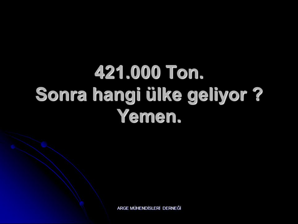 Bildiniz.  Türkiye'de. ARGE MÜHENDİSLERİ DERNEĞİ Pekii Tahmin edilen rezerv ne kadar ?