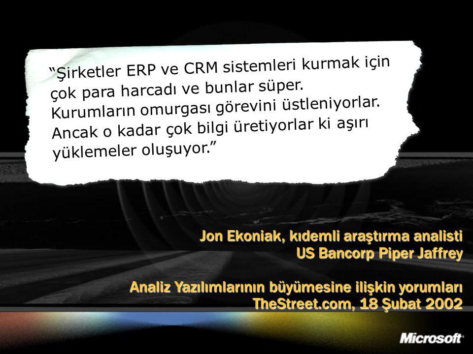 """Jon Ekoniak, kıdemli araştırma analisti US Bancorp Piper Jaffrey Analiz Yazılımlarının büyümesine ilişkin yorumları TheStreet.com, 18 Şubat 2002 """"Şirk"""