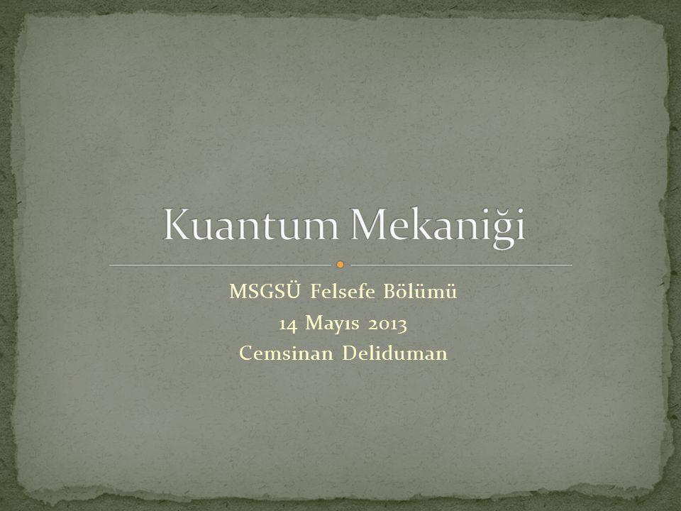 MSGSÜ Felsefe Bölümü 14 Mayıs 2013 Cemsinan Deliduman