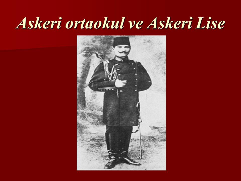 Mustafa Kemal ilköğretimini tamamladıktan sonra hangi okullara devam etmiştir.