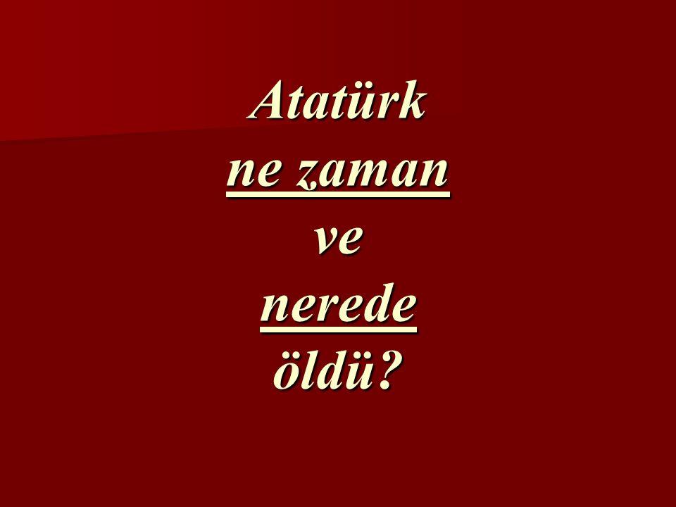 Atatürk vatanını ve milletini çok severdi. Vatanı ve milleti için çok çalıştı ve sonunda hastalandı.
