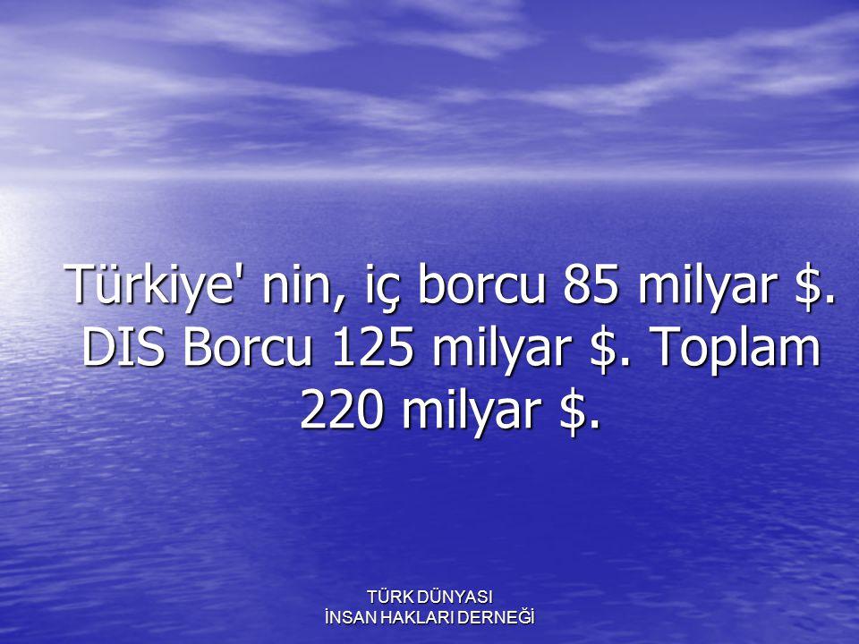 TÜRK DÜNYASI İNSAN HAKLARI DERNEĞİ Elimizdeki Neptünyum un degerini tekrar ediyorum! 9 TRiLYON $