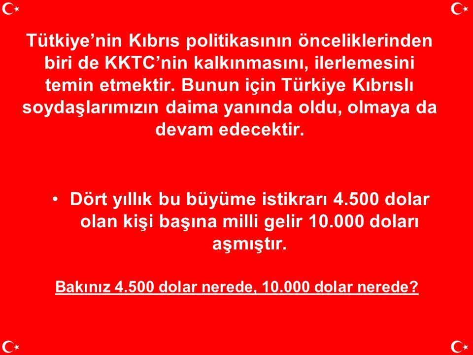 Bunlar KKTC'nin dün sahip olmadığı, bugün kullanmaya başladığı önemli imkânlardır. Türkiye'nin Kıbrıs konusunda izlediği akılcı, gerçekçi, vakur polit