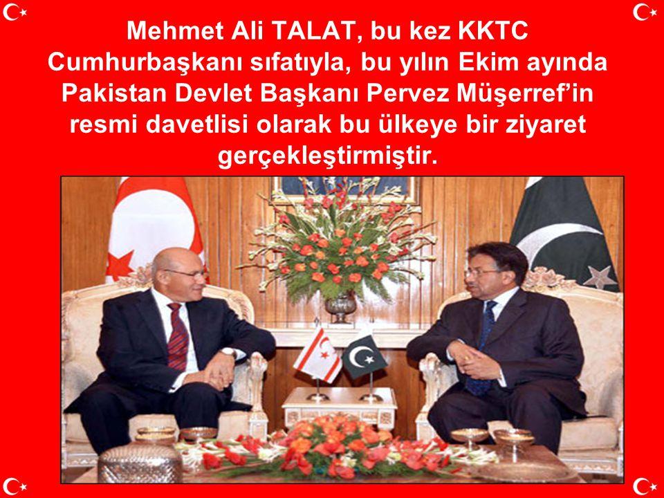 """Yine """"KKTC Başbakanı"""" sıfatıyla Avrupa Parlamentosu'na hitap etmiştir. Bunlar sadece Mehmet Ali TALAT'ın Başbakanlık döneminde elde edilen diplomatik"""