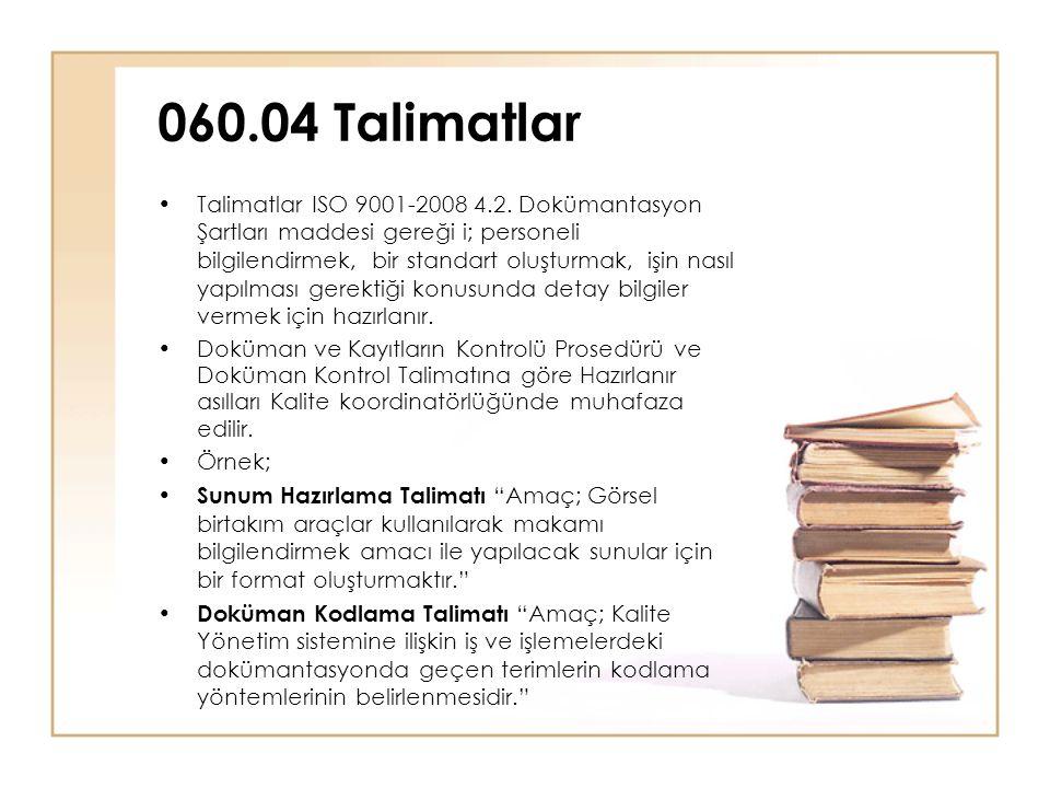 •Talimatlar ISO 9001-2008 4.2.