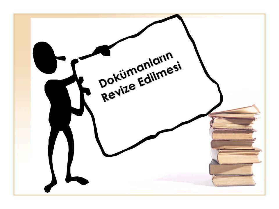 Dokümanların Revize Edilmesi