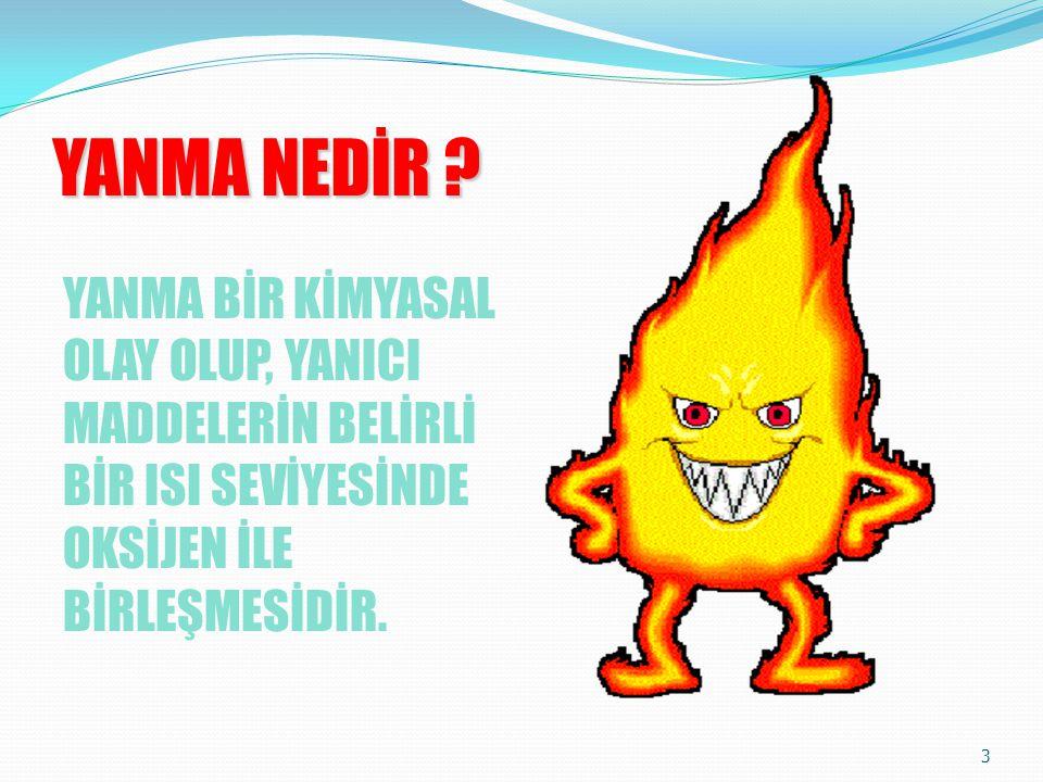 PARLAMA (TANIMLAR-2) 63 •Parlama Noktası: •Yanma özelliği olan sıvıların parlamaya hazır bir buhar tabakası oluşturabilecekleri en düşük ısı derecesi.