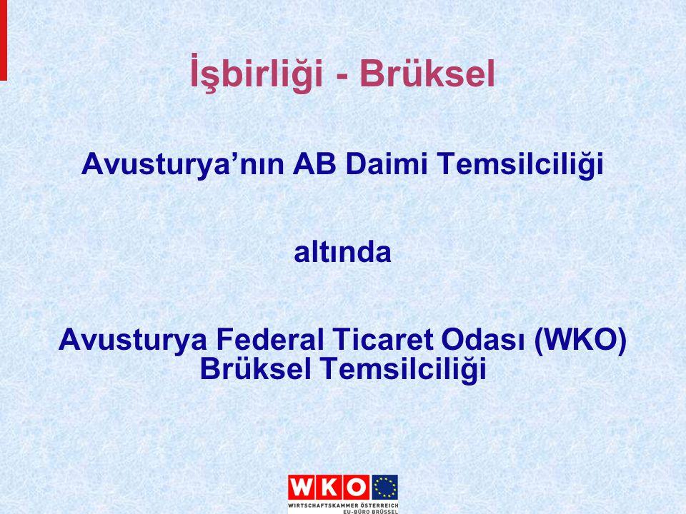 Avusturya'nın AB Daimi Temsilciliği altında Avusturya Federal Ticaret Odası (WKO) Brüksel Temsilciliği İşbirliği - Brüksel
