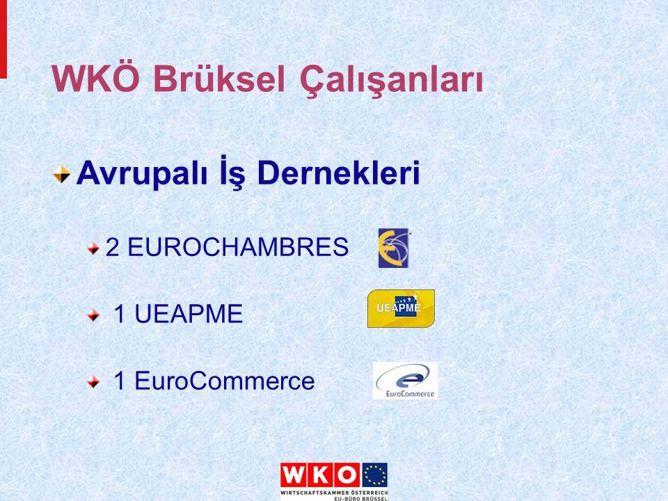 WKÖ Brüksel Çalışanları Avrupalı İş Dernekleri 2 EUROCHAMBRES 1 UEAPME 1 EuroCommerce