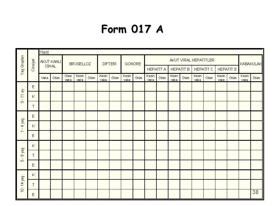 38 Form 017 A