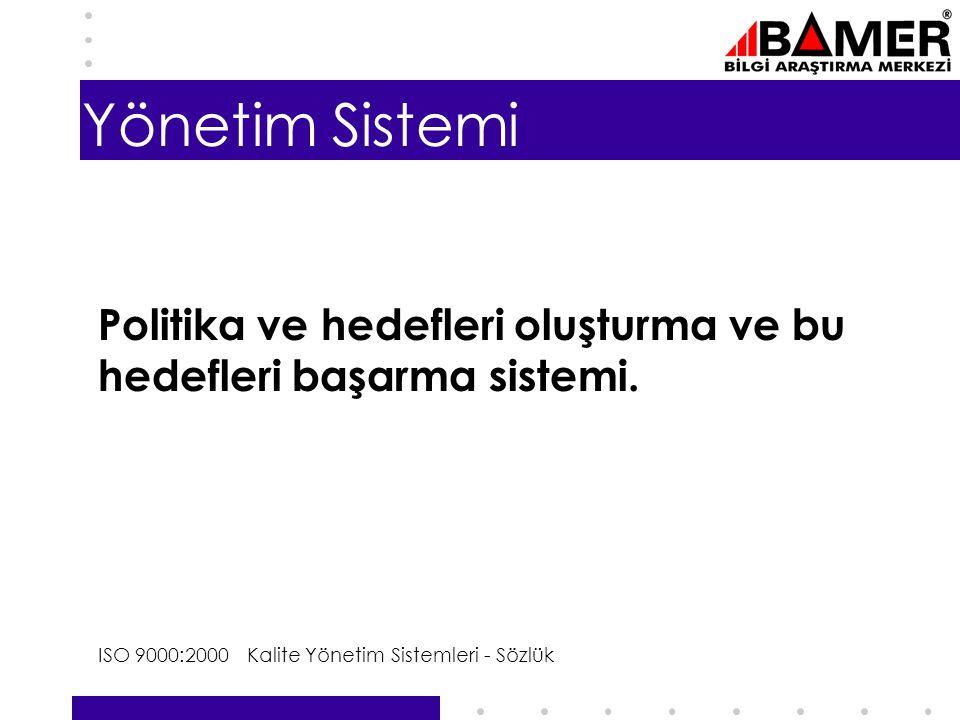 6 Yönetim Sistemi Politika ve hedefleri oluşturma ve bu hedefleri başarma sistemi.
