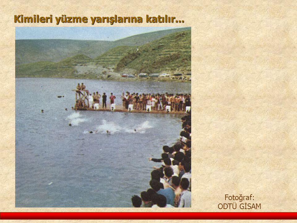 Kimileri yüzme yarışlarına katılır... Fotoğraf: ODTÜ GİSAM