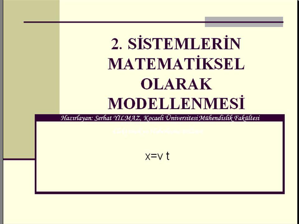 Serhat YILMAZ serhaty@kocaeli.edu.tr 1 Hazırlayan: Serhat YILMAZ, Kocaeli Üniversitesi Mühendislik Fakültesi Elektronik ve Haberleşme Bölümü