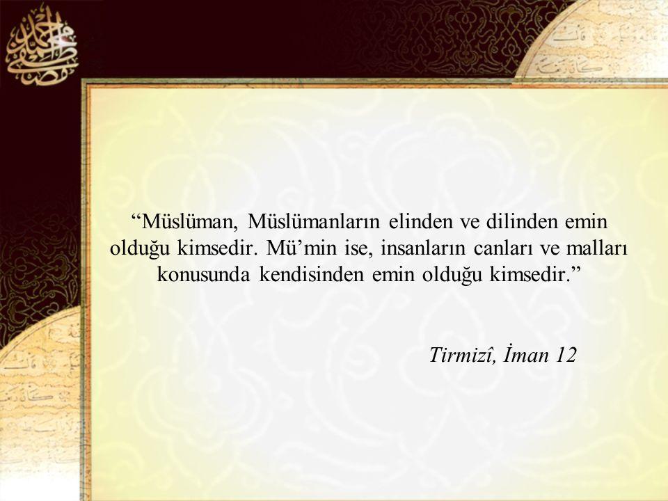Müslüman, Müslümanların elinden ve dilinden emin olduğu kimsedir.
