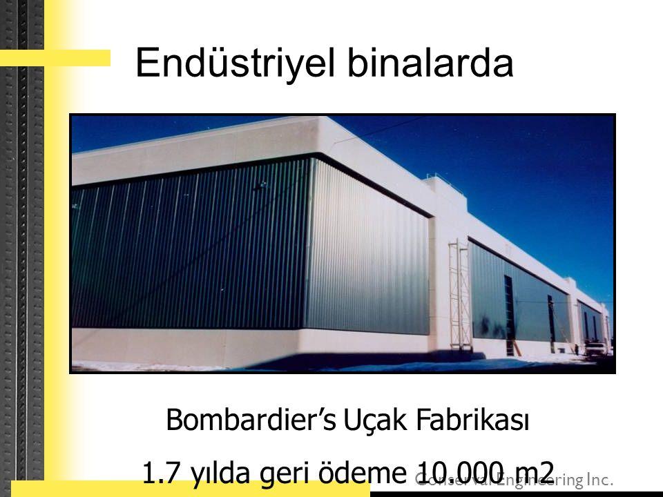 Conserval Engineering Inc. Endüstriyel binalarda Bombardier's Uçak Fabrikası 1.7 yılda geri ödeme 10.000 m2