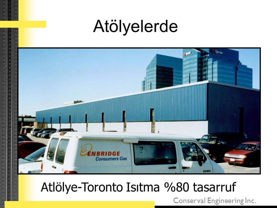 Conserval Engineering Inc. Atölyelerde Atlölye-Toronto Isıtma %80 tasarruf