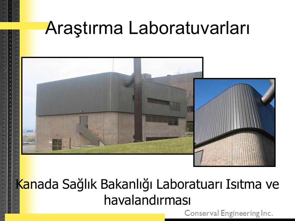 Conserval Engineering Inc. Araştırma Laboratuvarları Kanada Sağlık Bakanlığı Laboratuarı Isıtma ve havalandırması