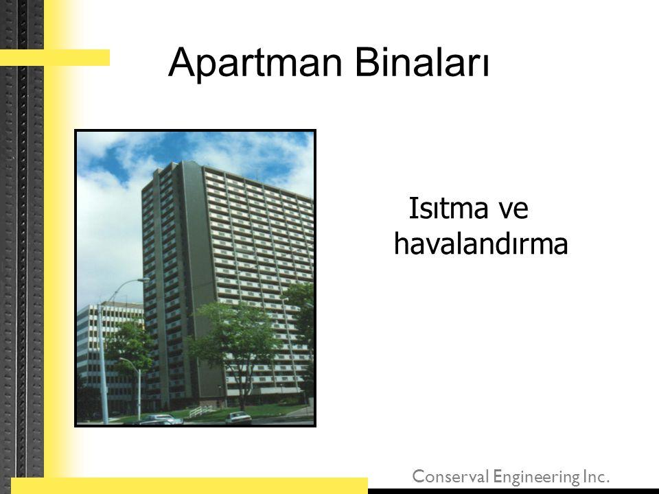 Conserval Engineering Inc. Apartman Binaları Isıtma ve havalandırma