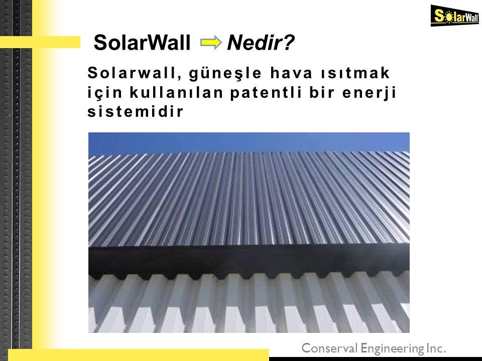 Conserval Engineering Inc. Solarwall, güneşle hava ısıtmak için kullanılan patentli bir enerji sistemidir SolarWall Nedir?