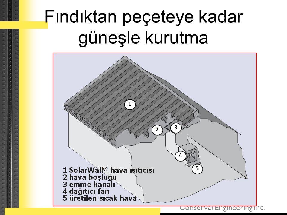 Conserval Engineering Inc. Fındıktan peçeteye kadar güneşle kurutma