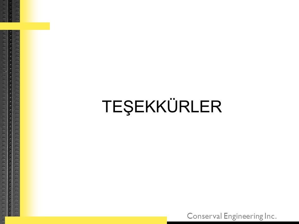 Conserval Engineering Inc. TEŞEKKÜRLER