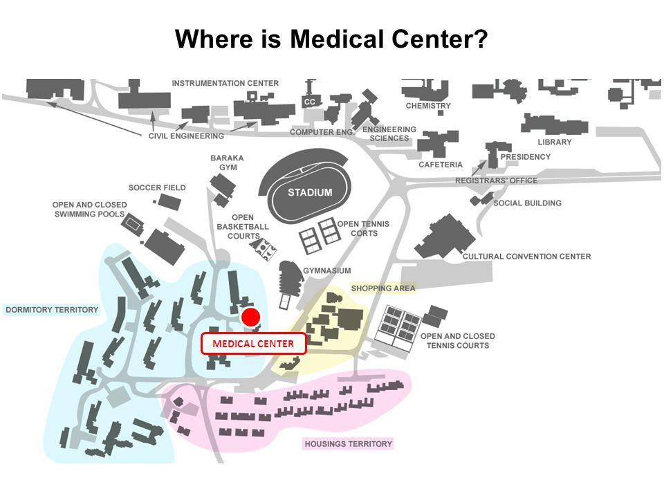 MEDICAL CENTER Where is Medical Center?
